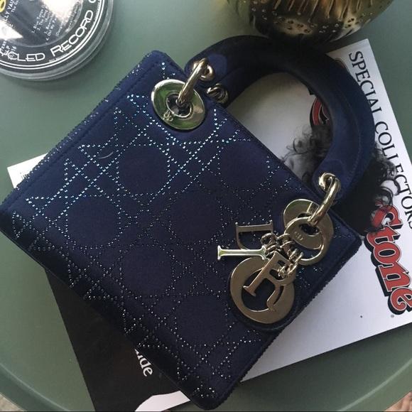 fc9f58007aa Dior Bags | Lady Limited Edition Mini Blue Satin Bag | Poshmark
